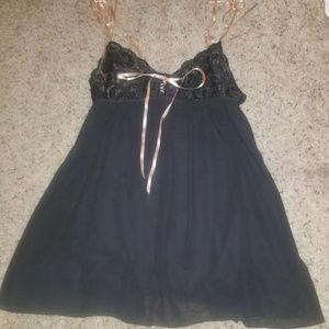 Victorias Secret sexy Black Sheer Night Gown lace